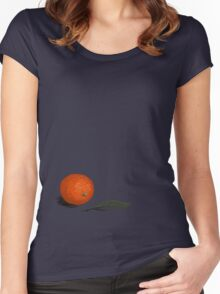 Orange and leaf Women's Fitted Scoop T-Shirt