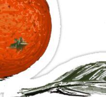 Orange and leaf Sticker