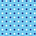 Square Badge in Blue by Leona Hussey