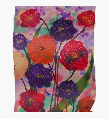 Mixed Blooms Poster