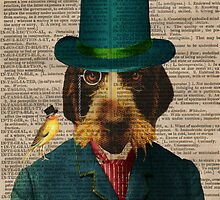 Antique Dictionary Page Wirehaired Griffon by Gidget26