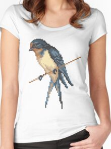 Bird 6 Women's Fitted Scoop T-Shirt