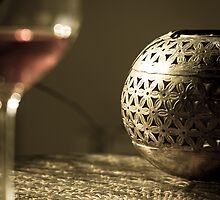Glass of Wine by georges-henri