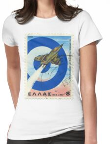 Fighter Plane Womens Fitted T-Shirt