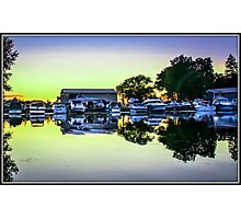 Sunset at the Marina Photographic Print