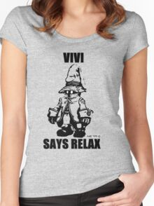 Vivi Says Relax - Transparent Women's Fitted Scoop T-Shirt