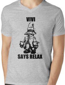 Vivi Says Relax - Transparent Mens V-Neck T-Shirt