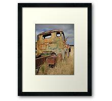 Old truck in roadside paddock - Yarra, NSW Framed Print