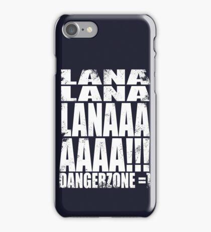 Archer - DANGER ZONE Quote -WHITE iPhone Case/Skin