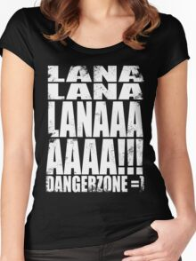 Archer - DANGER ZONE Quote -WHITE Women's Fitted Scoop T-Shirt