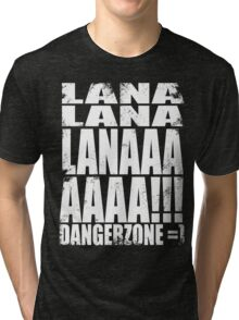 Archer - DANGER ZONE Quote -WHITE Tri-blend T-Shirt