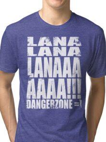 Archer - DANGER ZONE Quote -WHITE Tri-blend T-Shirt