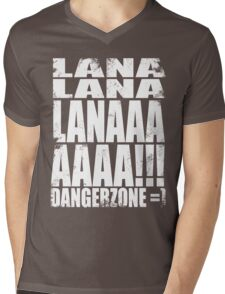 Archer - DANGER ZONE Quote -WHITE Mens V-Neck T-Shirt