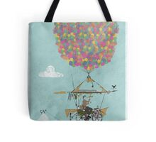 Riding A Bicycle Through The Mountains Tote Bag