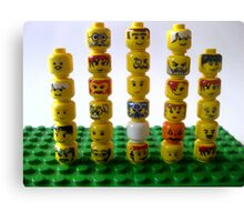 lego minifigure heads Canvas Print