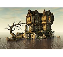 The Medieval House on The Sea Photographic Print