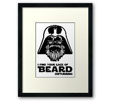 Bearded Vader Framed Print
