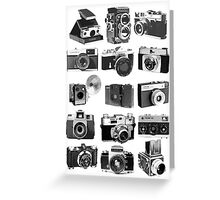 Fifteen Classic Cameras Greeting Card
