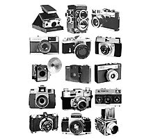 Fifteen Classic Cameras Photographic Print
