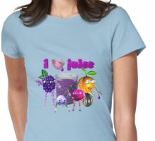 I Heart Love Juice Womens Fitted T-Shirt