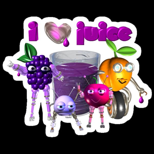 I Heart Love Juice by Valxart