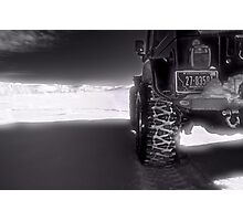 Jeeping in the grasslands North Dakota Photographic Print