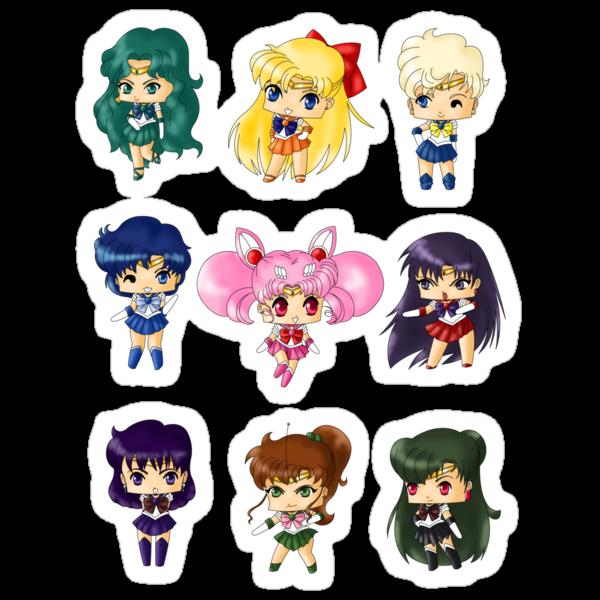 Chibi Sailor Scouts by artwaste