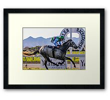 First to the finish  Framed Print