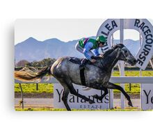 First to the finish  Canvas Print