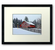 Greetings From Clarks Valley Framed Print