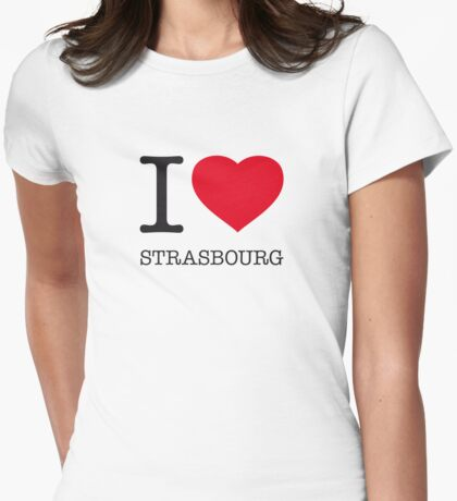 I ♥ STRASBOURG Womens Fitted T-Shirt