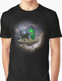 Cat vs Cucumber Graphic T-Shirt