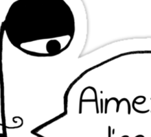 Aimez-vous l'accent? - Funny French Music Cartoon Sticker
