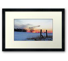 December Dusk Framed Print