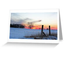 December Dusk Greeting Card