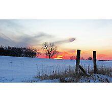 December Dusk Photographic Print