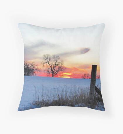 December Dusk Throw Pillow