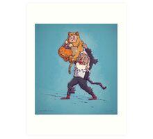 Lion King Trick or Treat Art Print