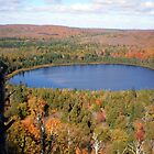 Lake Hidden Among Fall Colors by Steve Upton