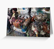 Market, Dalat, Vietnam Greeting Card