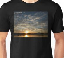 Inch Island Winter Sunset Unisex T-Shirt