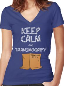 Keep Calm and Transmogrify Women's Fitted V-Neck T-Shirt