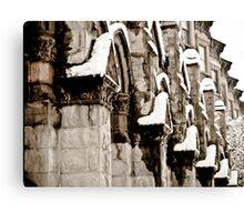 Snowy Facade  Canvas Print