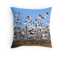 Snow Geese take Flight Throw Pillow