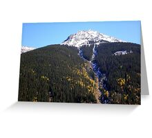 Snow Capped Mountain View from Silverton Colorado Greeting Card