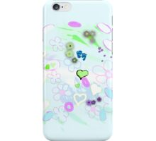 Light green abstract landscape - Thinking of you iPhone Case/Skin