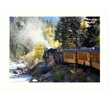Durango Steam Engine Adding Cooling Water Art Print