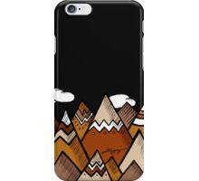 Dusty Mountain - Black iPhone Case/Skin