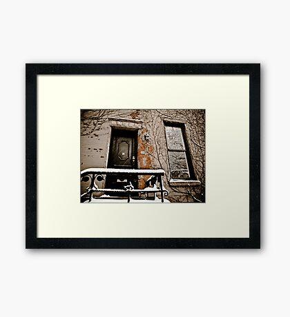 Brooklyn Doors Framed Print