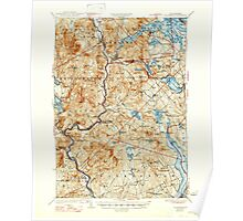 USGS TOPO Map New Hampshire NH Holderness 330089 1927 62500 Poster